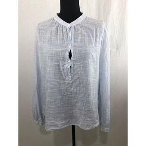 J.CREW Striped Cotton Blouse Seersucker Size 6